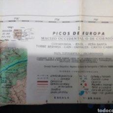 Mapas contemporáneos - PICOS DE EUROPA. MAPA TOPOGRÁFICO. MACIZO OCCIDENTAL O DE CORNIÓN. ESCALA 1: 25.000. AÑO 1989. PESO - 113001504