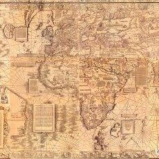 Mapas contemporáneos: WALDSEEMÜLLER 1516 - MAPA GIGANTE (2,4METROS) IDEAL DECORACIÓN NÁUTICA RESTAURANTE HOTEL. Lote 113060015
