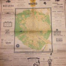 Mapas contemporáneos: PLANO DE MADRID 1936, 86X79,05.. Lote 113187527