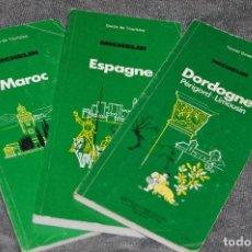 Mapas contemporáneos: VINTAGE - LOTE DE 3 GUÍAS TURÍSTICAS MICHELIN - AÑOS 8 - ESPAÑA, MARRUECOS, DORDOÑA - HAZ OFERTA. Lote 113207699