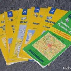 Mapas contemporáneos - VINTAGE - LOTE DE 6 GUÍAS / MAPAS MICHELIN - DE DIFERENTES PARTES DE FRANCIA - HAZ OFERTA - 113208131