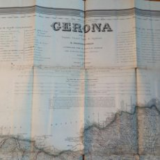 Mapas contemporáneos: MAPA DE LA PROVINCIA DE GERONA POR FRANCISCO COELLO. 1851.GIRONA.CATALUNYA.MILITAR.MADOZ.BARCELONA. Lote 113378703