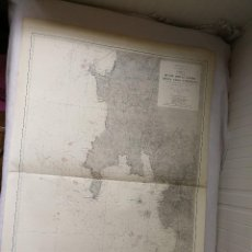 Mapas contemporáneos: CARTA NÁUTICA GALICIA DESDE MONTE LOURO HASTA CABO TORIÑANA (A CORUÑA). MADRID,1910.107 X 75CM. Lote 113664651