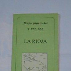 Mapas contemporáneos: MAPA DE LA RIOJA PROVINCIAL. 1:200.000. 1987. DESPLEGABLE. INSTITUTO GEOGRAFICO NACIONAL. TDKP1. Lote 113835099