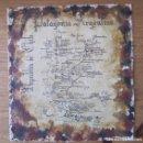 Mapas contemporáneos: MAPA DE LA PATAGONIA HECHO A MANO CON PAPEL ARTESANO. Lote 114166139