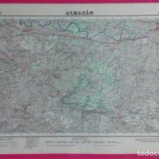 Mapas contemporáneos: MAPA - ALMAZAN / SORIA - Nº 406 - INS GEOGRAFICO CATASTRAL - MILITAR - 2ª ED AÑO 1954. Lote 195436095