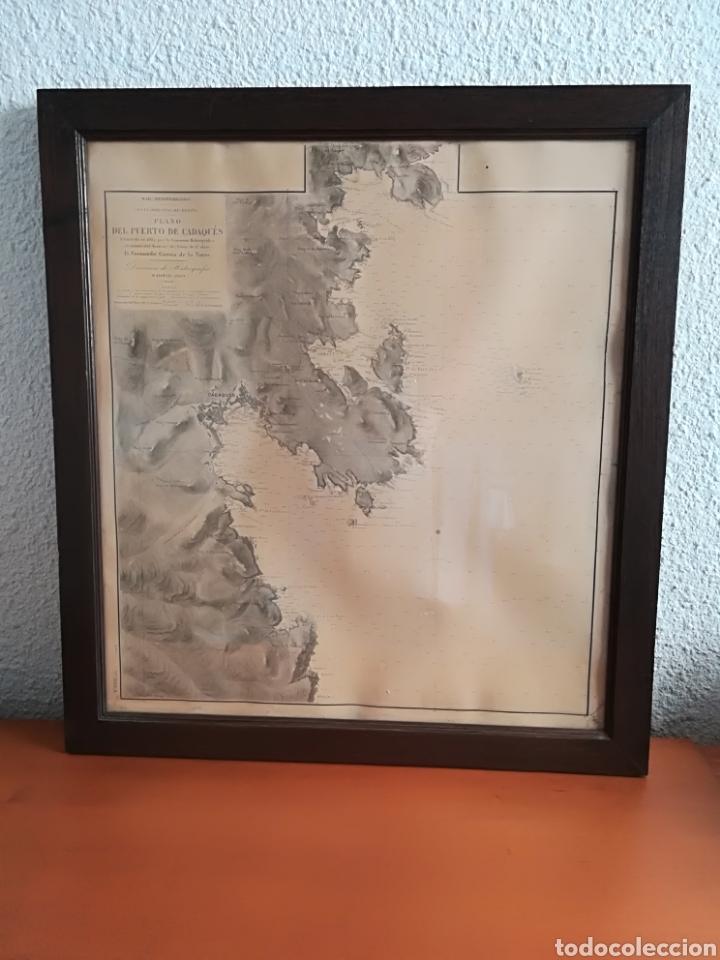 PLANO DEL PUERTO DE CADAQUÉS DIRECCIÓN DE HIDROGRAFIA MADRID AÑO 1889 CARTA MARINA COSTA BRAVA MAPA (Coleccionismo - Mapas - Mapas actuales (desde siglo XIX))