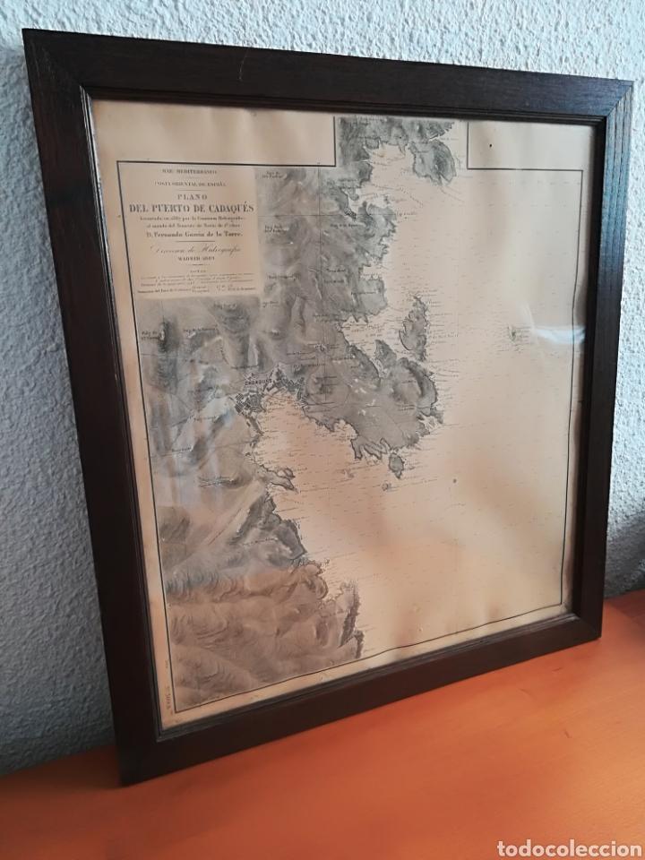 Mapas contemporáneos: Plano del Puerto de Cadaqués Dirección de Hidrografia Madrid año 1889 Carta marina Costa Brava mapa - Foto 2 - 114883984