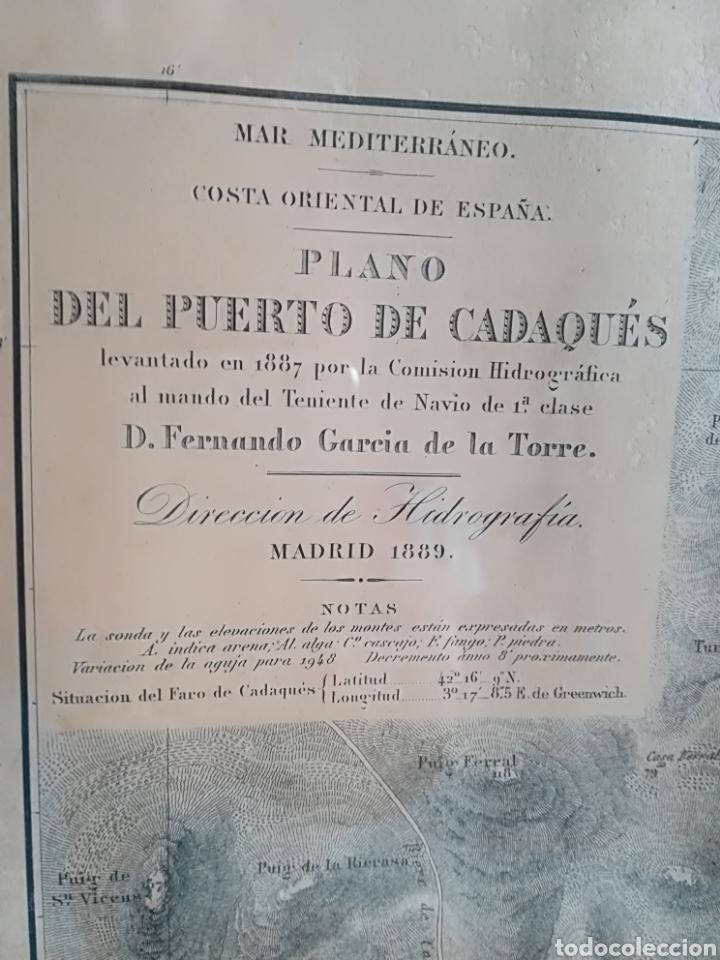 Mapas contemporáneos: Plano del Puerto de Cadaqués Dirección de Hidrografia Madrid año 1889 Carta marina Costa Brava mapa - Foto 3 - 114883984