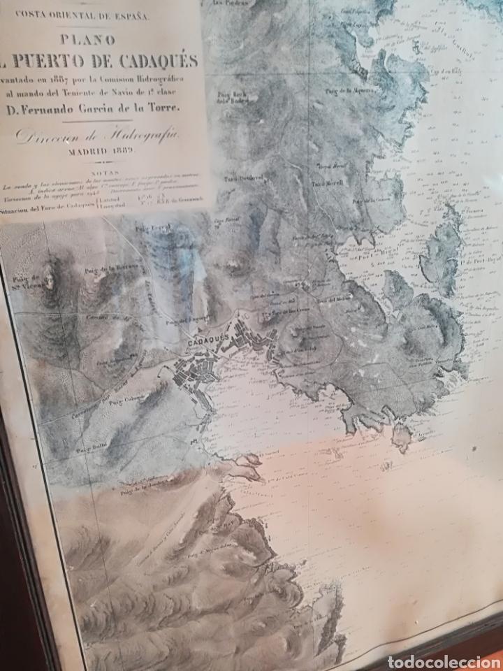 Mapas contemporáneos: Plano del Puerto de Cadaqués Dirección de Hidrografia Madrid año 1889 Carta marina Costa Brava mapa - Foto 4 - 114883984