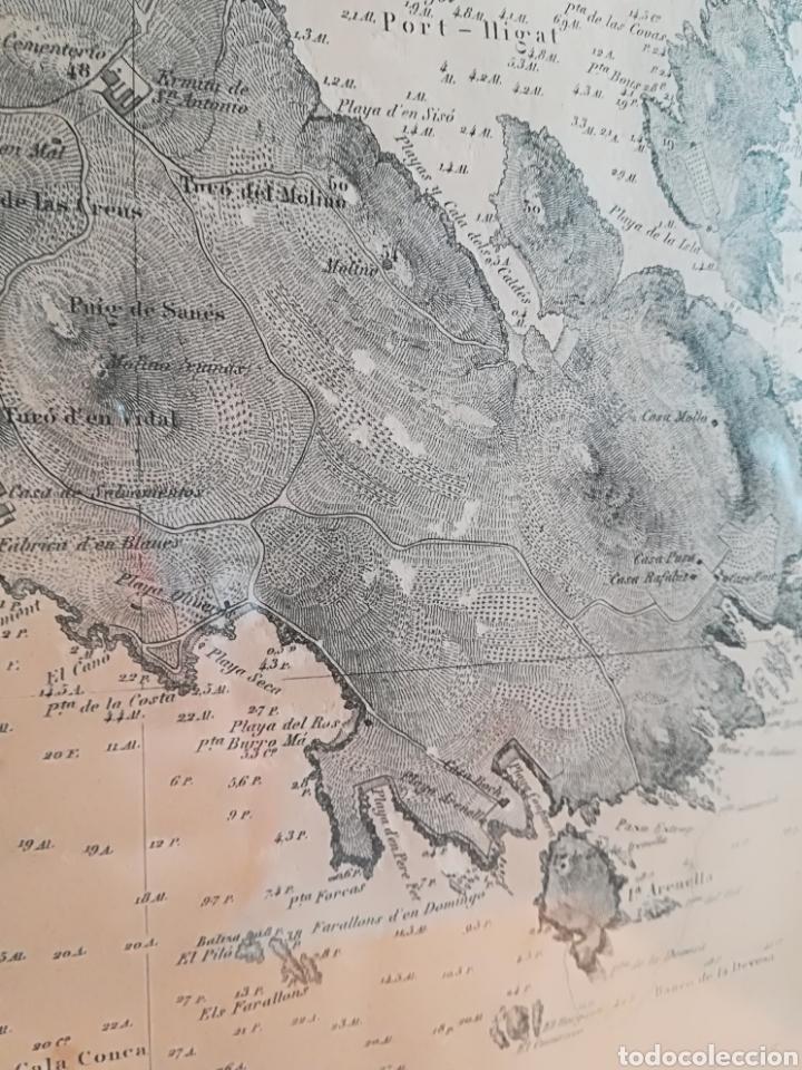 Mapas contemporáneos: Plano del Puerto de Cadaqués Dirección de Hidrografia Madrid año 1889 Carta marina Costa Brava mapa - Foto 6 - 114883984