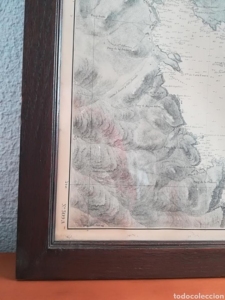 Mapas contemporáneos: Plano del Puerto de Cadaqués Dirección de Hidrografia Madrid año 1889 Carta marina Costa Brava mapa - Foto 7 - 114883984