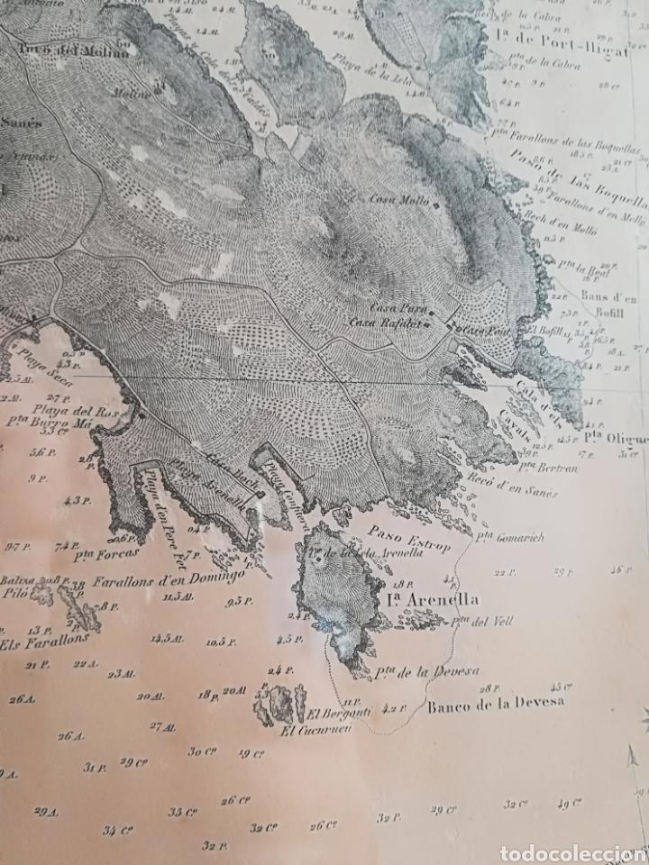 Mapas contemporáneos: Plano del Puerto de Cadaqués Dirección de Hidrografia Madrid año 1889 Carta marina Costa Brava mapa - Foto 10 - 114883984
