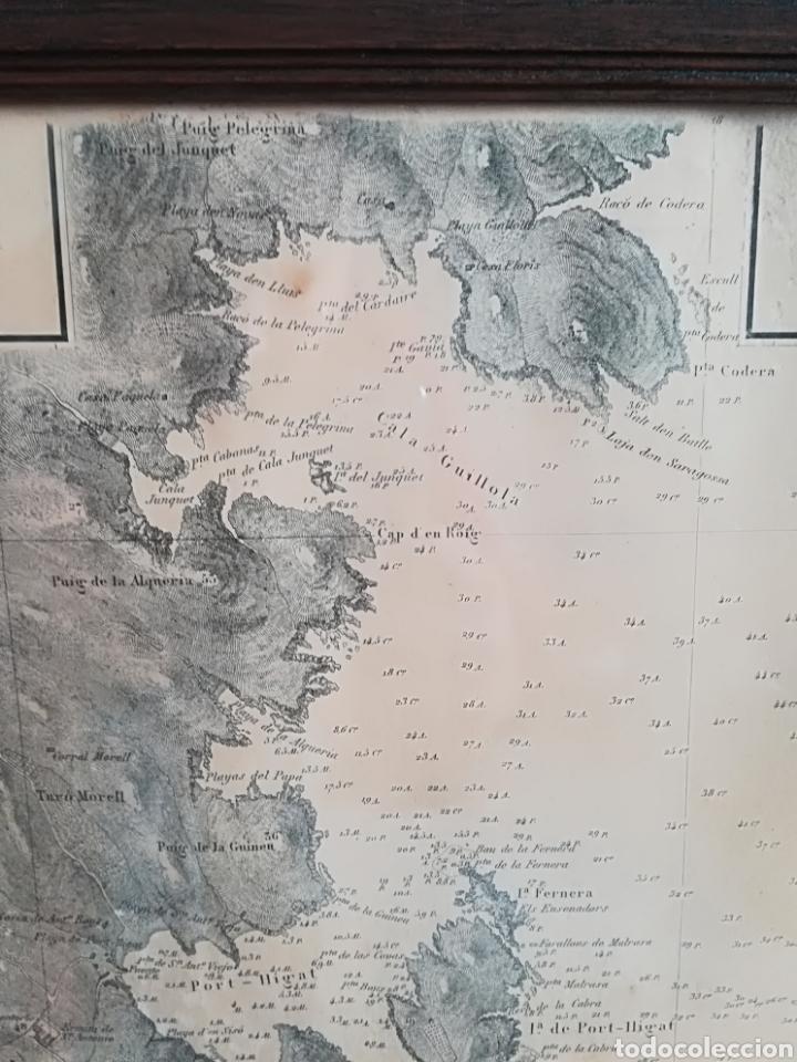 Mapas contemporáneos: Plano del Puerto de Cadaqués Dirección de Hidrografia Madrid año 1889 Carta marina Costa Brava mapa - Foto 11 - 114883984