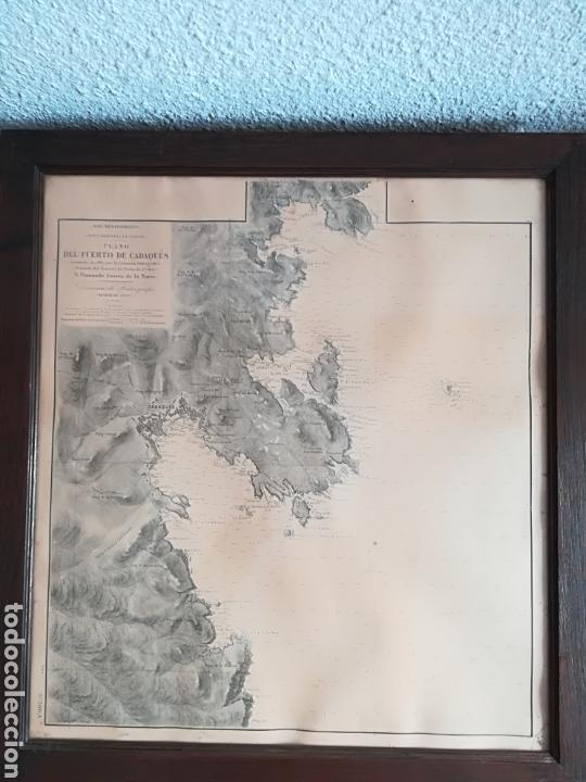Mapas contemporáneos: Plano del Puerto de Cadaqués Dirección de Hidrografia Madrid año 1889 Carta marina Costa Brava mapa - Foto 13 - 114883984