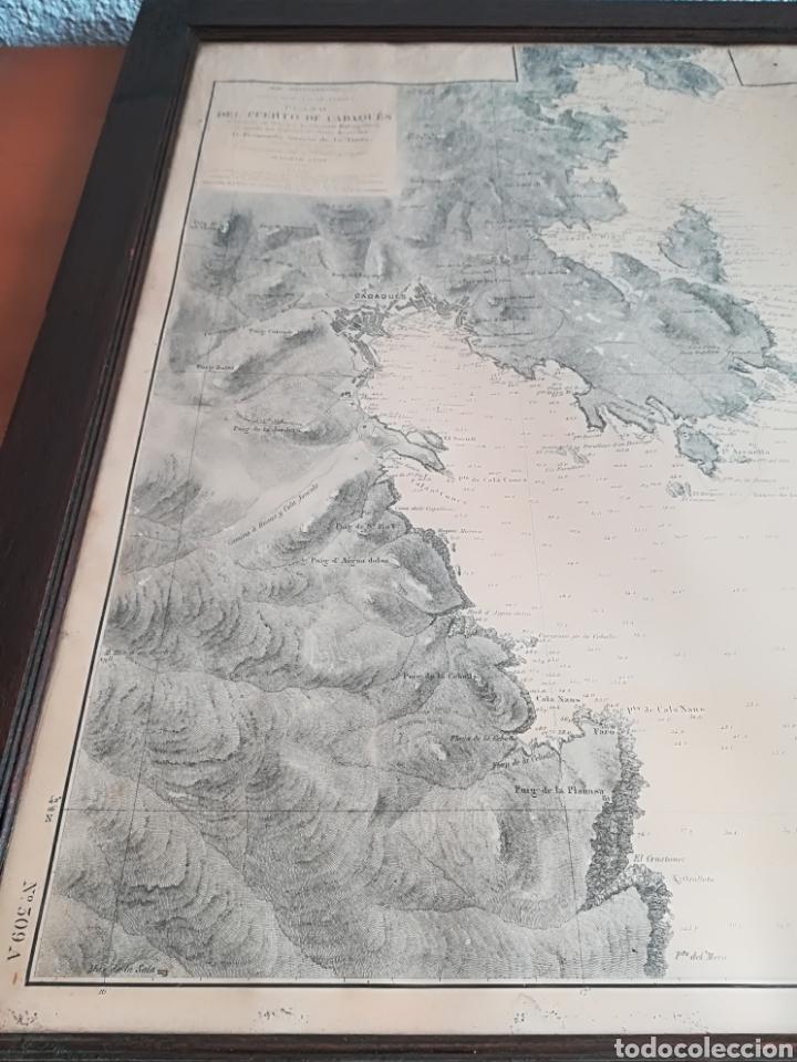 Mapas contemporáneos: Plano del Puerto de Cadaqués Dirección de Hidrografia Madrid año 1889 Carta marina Costa Brava mapa - Foto 14 - 114883984