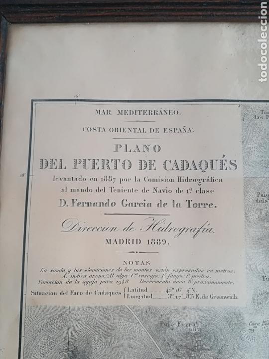 Mapas contemporáneos: Plano del Puerto de Cadaqués Dirección de Hidrografia Madrid año 1889 Carta marina Costa Brava mapa - Foto 16 - 114883984