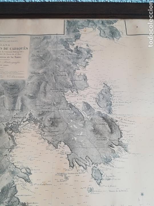 Mapas contemporáneos: Plano del Puerto de Cadaqués Dirección de Hidrografia Madrid año 1889 Carta marina Costa Brava mapa - Foto 17 - 114883984