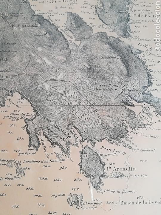 Mapas contemporáneos: Plano del Puerto de Cadaqués Dirección de Hidrografia Madrid año 1889 Carta marina Costa Brava mapa - Foto 18 - 114883984