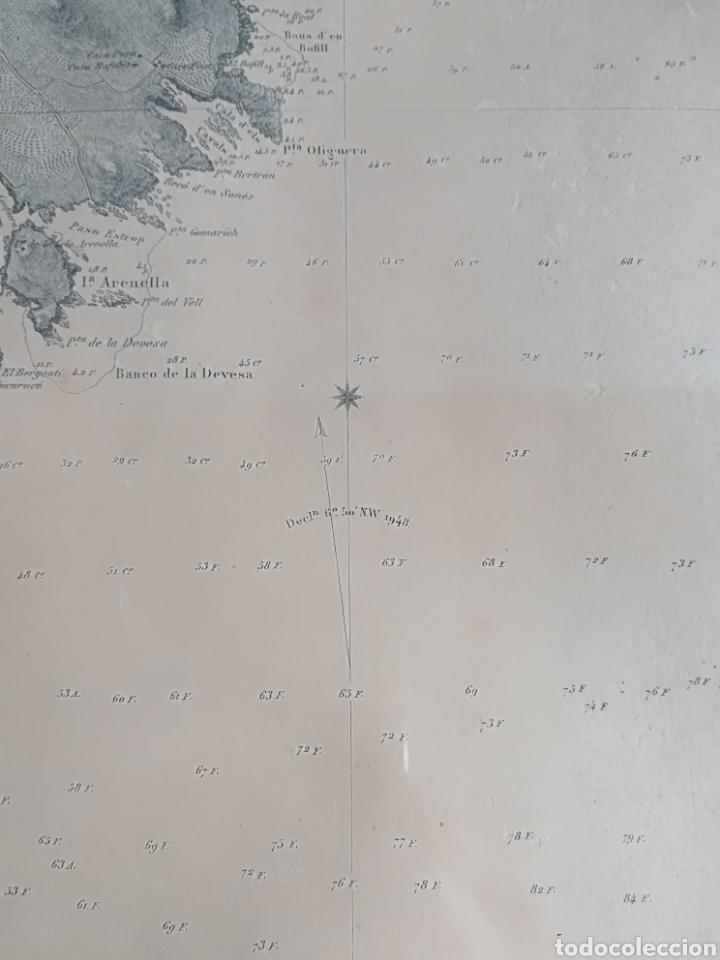 Mapas contemporáneos: Plano del Puerto de Cadaqués Dirección de Hidrografia Madrid año 1889 Carta marina Costa Brava mapa - Foto 23 - 114883984