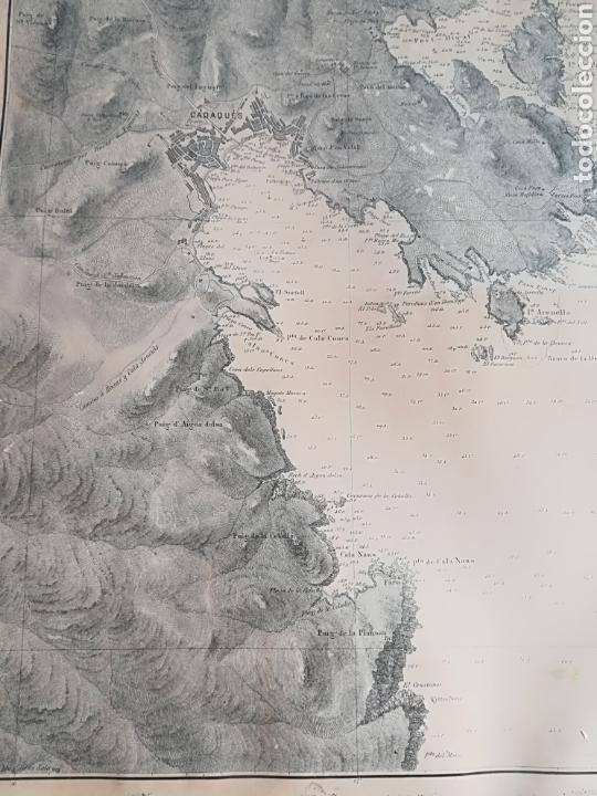 Mapas contemporáneos: Plano del Puerto de Cadaqués Dirección de Hidrografia Madrid año 1889 Carta marina Costa Brava mapa - Foto 24 - 114883984