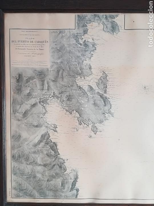 Mapas contemporáneos: Plano del Puerto de Cadaqués Dirección de Hidrografia Madrid año 1889 Carta marina Costa Brava mapa - Foto 25 - 114883984