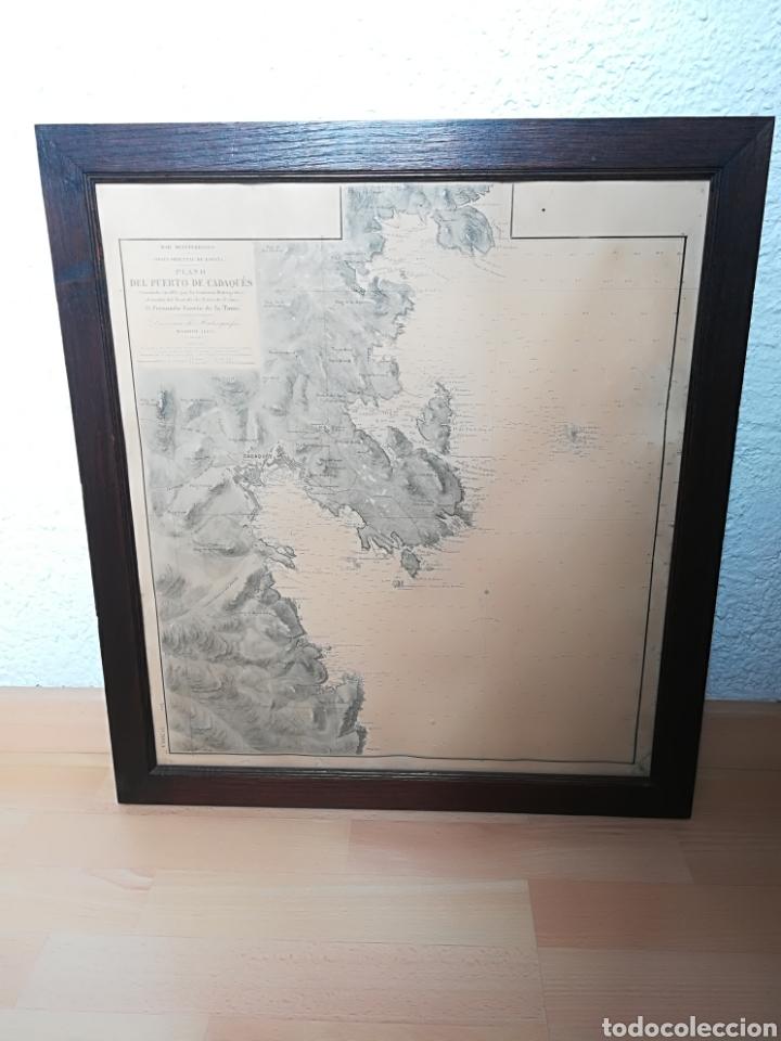 Mapas contemporáneos: Plano del Puerto de Cadaqués Dirección de Hidrografia Madrid año 1889 Carta marina Costa Brava mapa - Foto 32 - 114883984