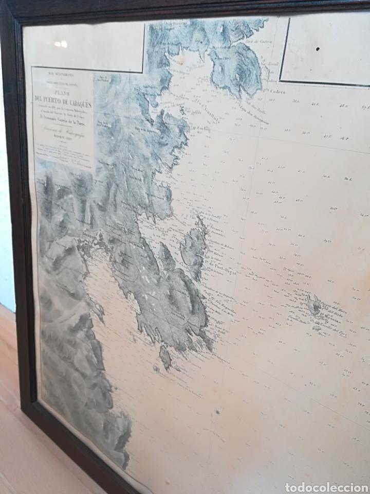 Mapas contemporáneos: Plano del Puerto de Cadaqués Dirección de Hidrografia Madrid año 1889 Carta marina Costa Brava mapa - Foto 34 - 114883984