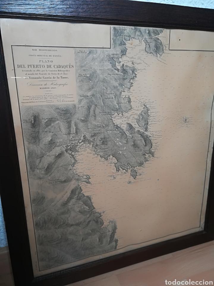 Mapas contemporáneos: Plano del Puerto de Cadaqués Dirección de Hidrografia Madrid año 1889 Carta marina Costa Brava mapa - Foto 35 - 114883984