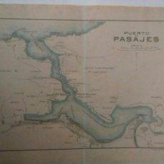 Mapas contemporáneos: PLANO DEL PUERTO DE PASAJES 1914. Lote 115337839