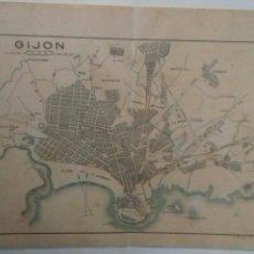Mapas contemporáneos: PLANO DE GIJON 1914. Lote 115339542