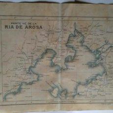 Mapas contemporáneos: PLANO DE LA PARTE NE. DE LA RIA DE AROSA 1914. Lote 115382044