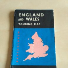 Mapas contemporáneos: ENGLAND AN WALES TOURING MAP - PRINTED & PUBLISHED IN GREAT BRITAIN. REVISED 1969.. Lote 115383727