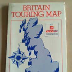 Mapas contemporáneos: BRITAIN TOURING MAP - AÑOS 70. Lote 115385123