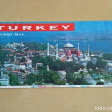 Mapas contemporáneos: TURKEY TOURIST MAP - AÑO 1992. Lote 115385931