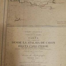 Mapas contemporáneos: CARTA NÁUTICA GALICIA. DESDE LA ATALAYA DE CAYÓN HASTA CABO PRIOR(CORUÑA) MADRID, 1918. 71 X 108 CM.. Lote 115462487
