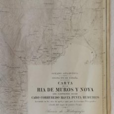 Mapas contemporáneos: CARTA NÁUTICA GALICIA. DE LA RÍA DE MUROS Y NOYA. MADRID, 1912. 68 X 99 CM.. Lote 137292018