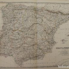 Mapas contemporáneos: MAPA PENÍNSULA IBÉRICA.ESPAÑA Y PORTUGAL.1893.SPAIN & PORTUGAL.BY KEITH JOHNSTON,LONDRES Y EDINBURGO. Lote 115856115