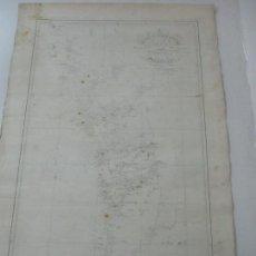 Mapas contemporáneos: CARTA NÁUTICA - CARTA ESFÉRICA - COSTA DE GALÍCIA - AÑO 1835. Lote 116101467