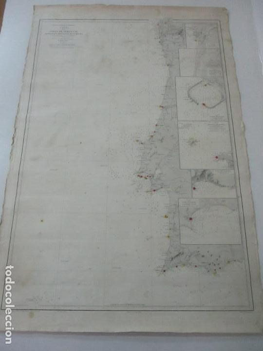 CARTA NÁUTICA - COSTA DE GALÍCIA - OCÉANO ATLÁNTICO - 1905 (Coleccionismo - Mapas - Mapas actuales (desde siglo XIX))