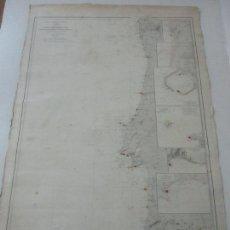 Mapas contemporáneos: CARTA NÁUTICA - COSTA DE GALÍCIA - OCÉANO ATLÁNTICO - 1905. Lote 214167062