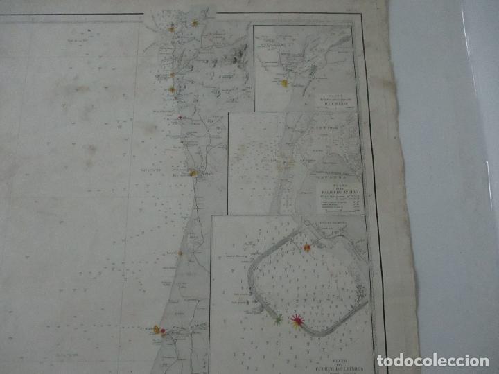Mapas contemporáneos: Carta Náutica - Costa de Galícia - Océano Atlántico - 1905 - Foto 3 - 116103079