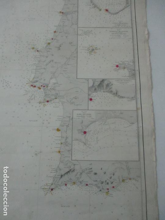 Mapas contemporáneos: Carta Náutica - Costa de Galícia - Océano Atlántico - 1905 - Foto 4 - 116103079