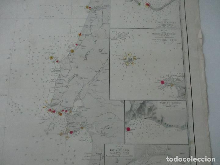 Mapas contemporáneos: Carta Náutica - Costa de Galícia - Océano Atlántico - 1905 - Foto 5 - 116103079