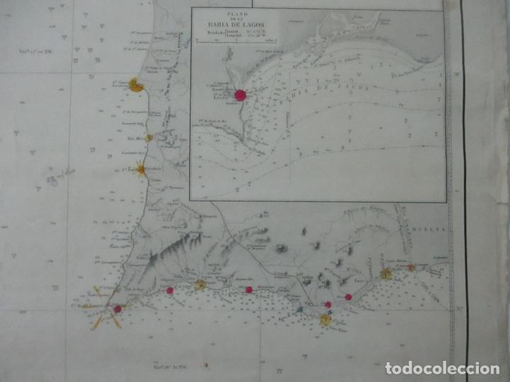 Mapas contemporáneos: Carta Náutica - Costa de Galícia - Océano Atlántico - 1905 - Foto 6 - 116103079