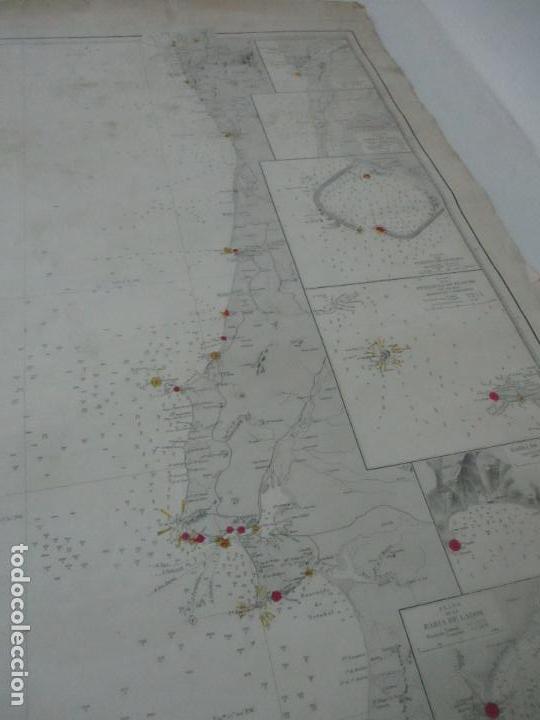 Mapas contemporáneos: Carta Náutica - Costa de Galícia - Océano Atlántico - 1905 - Foto 7 - 116103079