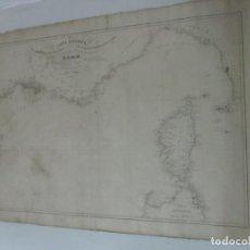 Mapas contemporáneos: CARTA NÁUTICA - CARTA ESFÉRICA - CARTAS FRANCIA, CERDEÑA, LUCA, TOSCANA Y CORCEGA - 1838 - MUY RARO. Lote 116106263