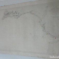 Mapas contemporáneos: CURIOSA CARTA NÁUTICA - CARTA SUDESTE DE LA PENÍNSULA IBÉRICA - AÑO 1875. Lote 116109327