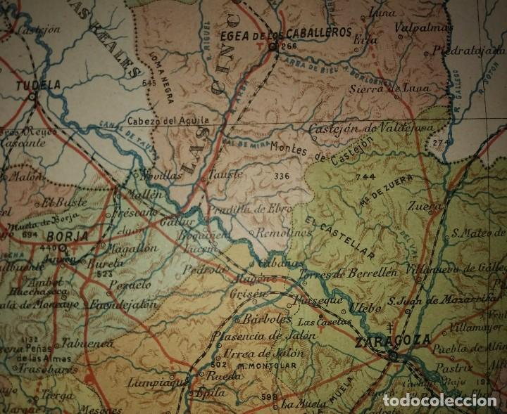 Mapas contemporáneos: ZARAGOZA provincia - Mapa antiguo 1910 con Paspartú biselado 42,5cm x 36cm - Foto 5 - 116862607