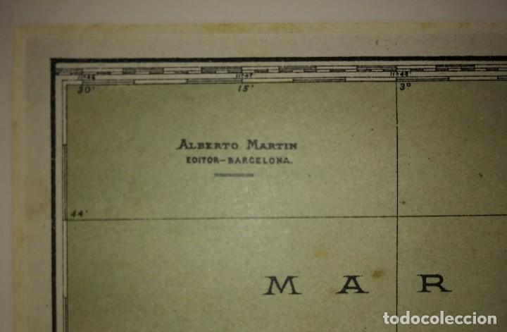 Mapas contemporáneos: OVIEDO provincia - Mapa antiguo 1910 con Paspartú biselado 42,5cm x 35cm - Foto 4 - 116862839